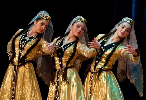 Georgian women in national costumes