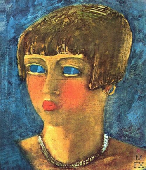 Girl in blue. 1929