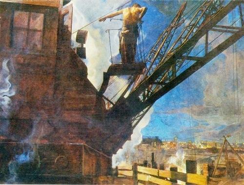 I. Brodsky 'Shock workers of Dnieprostroi'