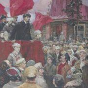 Ivan Semyonovich Petrov (1923). Speech of Lenin in the village. 1986