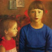 Katya and Masha. Oil. 1980