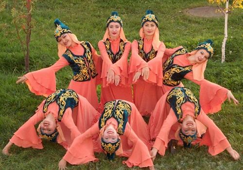 Kazakh SSR women in national costumes