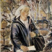 L.K. Eskaraeva. The village postman. From the series People of the village. 1979