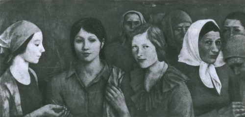 Larisa Kirillova. Girls. Oil. 1975