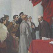 Leonid Titarchuk. Conversation between Lenin and delegates. 1981