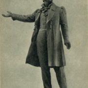 Model for monument to Pushkin in Leningrad. 1956