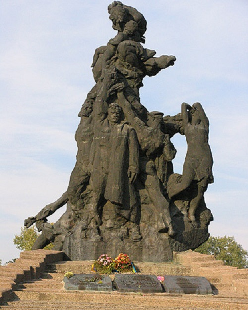 Monument to Soviet citizens and prisoners of war killed in Babi Yar