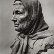 Old woman, bust