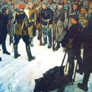 P. Shumikhin. The order to attack. Oil. 1928. The Central Museum of the Armed Forces of the USSR