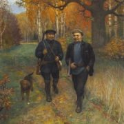 Paramonov Alexandr Nikitich (1874-1949). Lenin on the hunt. 1927