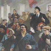 Pavel Antonovich Skorubsky (1924). Lenin with revolutionaries. 1980s