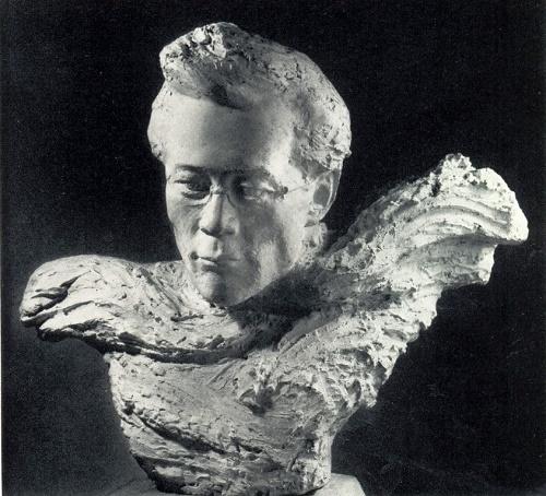 Portrait of PA Oiunsky. 1977, plaster