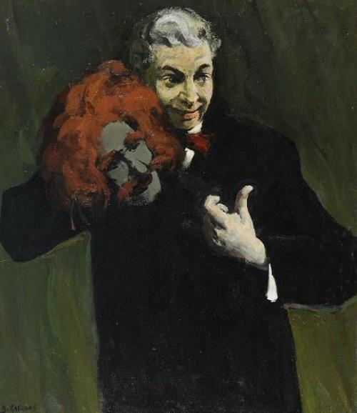 Portrait of Soviet comedian Arkady Raikin. 1981