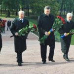 President of Ukraine Viktor Yanukovych at the National Historical Memorial Park 'Babi Yar'