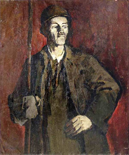 Steel worker, 1959. Oil on canvas