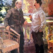 Vasily Svarog. Lenin and Stalin in Gorki in 1923