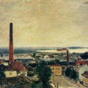 View of Tallin. 1945. Oil, canvas. State Tretyakov Gallery
