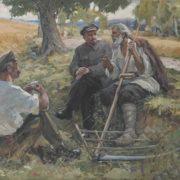 Yakov Ocheretko (1916). Meeting of Lenin and farmers. 1967