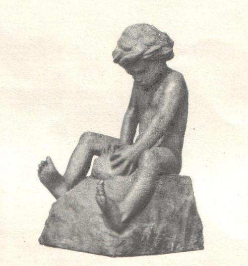Young sculptor. Bronze. 1947