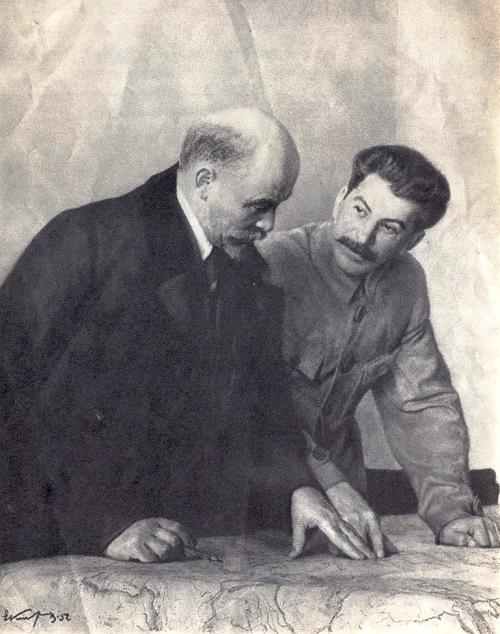 Architects of communism. Soviet artist Yevgeny Kibrik