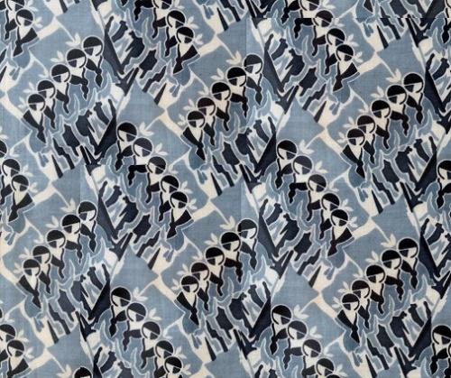 Artist Maria Nazarevskaya. Pioneer motif. Textile, 1930