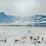 Constructing yaranga. Oil on canvas. 1963