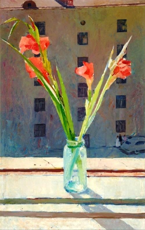 Gladiolas. 1958. Oil on canvas. The State Tretyakov Gallery
