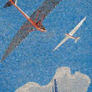 Gliders. Mosaic on the Mayakovskaya metro station. 1938. Detail