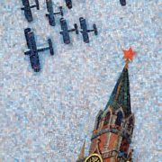 Kremlin in the daytime. Mosaic on the Mayakovskaya metro station. 1938. Detail