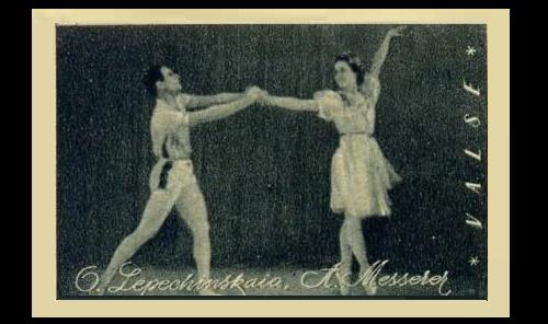 Olga Lepeshinskaya (15 September 1916 - 20 December 2008) and Asaf Messerer (November 19, 1903 - March 7, 1992) in La Valse by Maurice Ravel