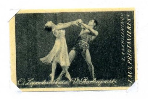 Olga Lepeshinskaya (15 September 1916 - 20 December 2008) and Vladimir Preobrajenski (1912 - 1981) in Primavera by Sergey Rachmaninov