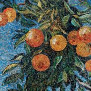 Oranges. Mosaic on the Mayakovskaya metro station. 1938. Detail