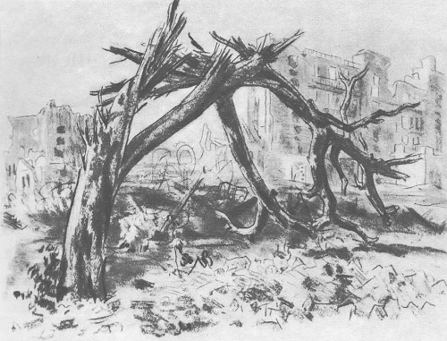 Pencil drawing from the series 'Stalingrad', 1943