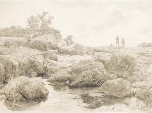Quarry near Korsun 1950. Paper, pencil