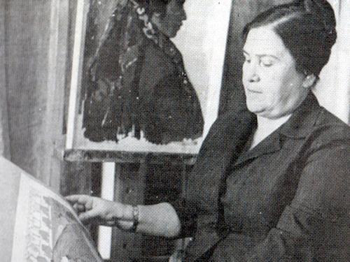 Soviet artist Yevgenia Adamova