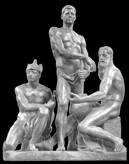 Soviet sculptor Aleksandr Matveyev. October. 1927