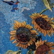 Sunflowers. Mosaic on the Mayakovskaya metro station. 1938. Detail
