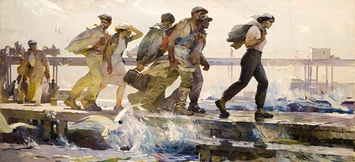 The Shift is Over. 1957. Oil on canvas