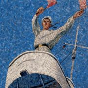The sailor on watch. Mosaic on the Mayakovskaya metro station. 1938. Detail