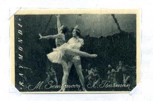 USSR ballet dancers Marina Semyonova (12 June 1908 – 9 June 2010) and Aleksandr Tsarman (July 6, 1873 — January 28, 1939) in the ballet 'Raymonda'