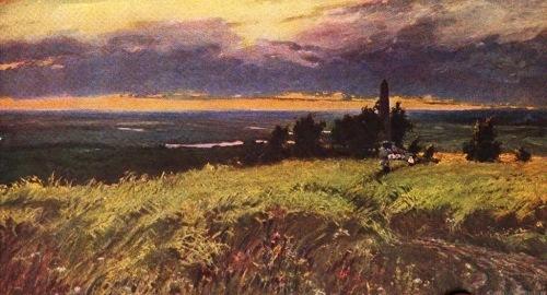 Soviet landscape painters. V. Dmitriev. Here fought till death