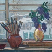 Window in the workshop, 1947
