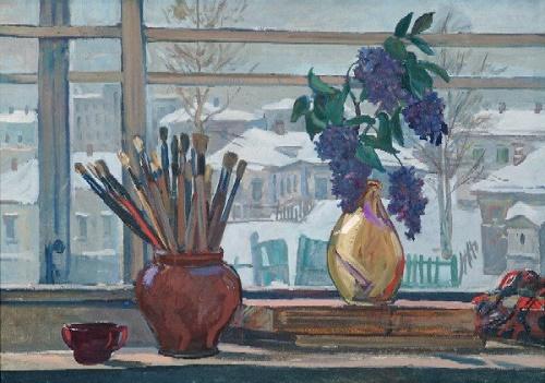 Window in the workshop, 1947
