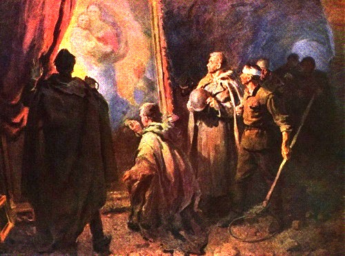 Soviet artist Yuly Yatchenko. With the dream of peace. Rescuing works of Dresden Art Gallery by Soviet troops in 1945