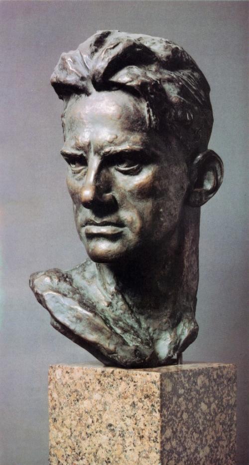 A.P. Kibalnikov. Portrait of poet V.V. Mayakovsky. 1956. Bronze