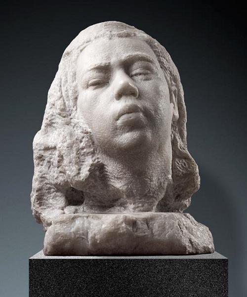Aleksandr Kibalnikov. Awakening (portrait of his daughter). Marble. 1956