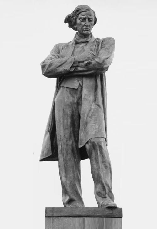 Aleksandr Kibalnikov. Monument to Nikolai Chernyshevsky. Bronze. 1948