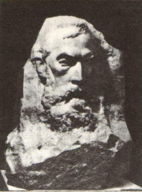 Aleksandr Kibalnikov. Pavel Tretyakov. Marble. 1975