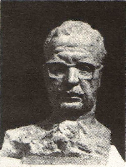 Aleksandr Kibalnikov. Salvador Allende. Gypsum. 1973