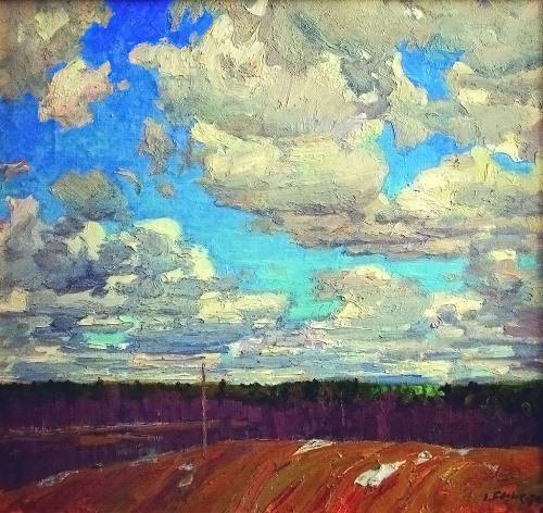 Alexey Belykh (1923). Spring sky. 1974